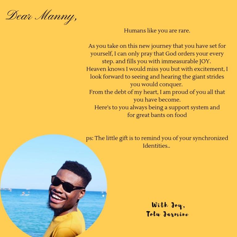 Tolu's letter